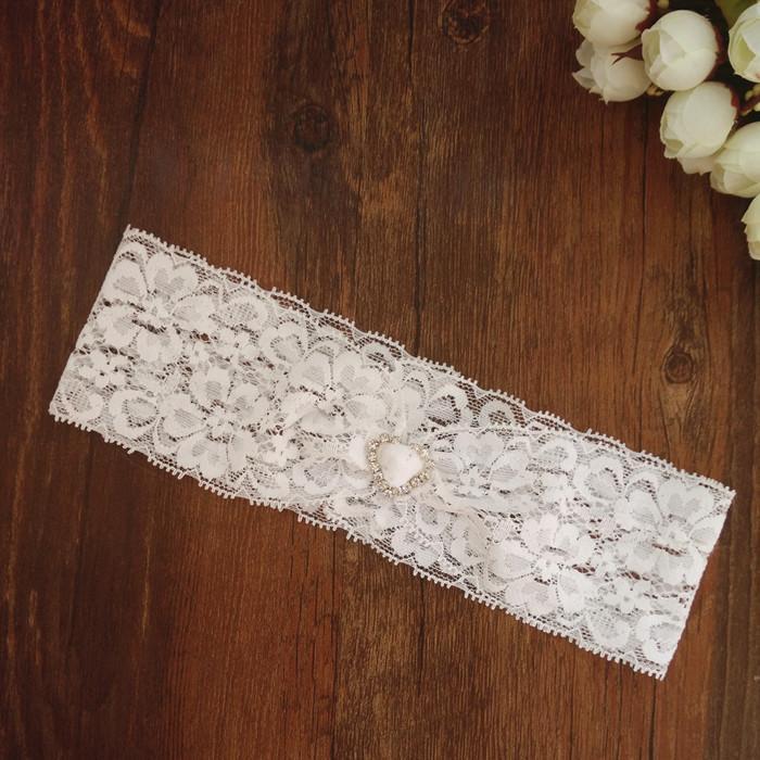 Where To Buy A Garter For Wedding: Wedding Vintage White Lace Garter Tiny Heart Charm Garter