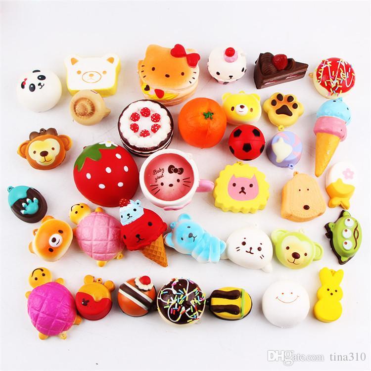 Kawaii Squishy Donut mous Squishies téléphone mignon sangles souples BagSquishy Fèves L'augmentation lente Squishies Jumbo IB320 pendante