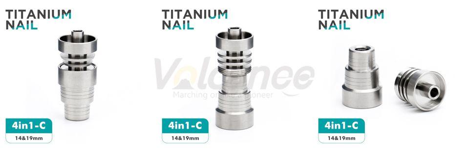 Clavos de titanio sin punta 6 en 1 10 mm 14 mm 18 mm Grado 2 clavos de titanio hembra junta masculina 2 en 1 4 en 1