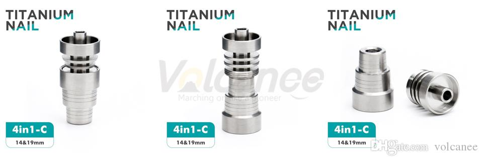 Universal Domeless Titanium Smoking Nail 10mm 14mm 19mm Female Male Joint 4 IN 1 6 IN1 Spiral