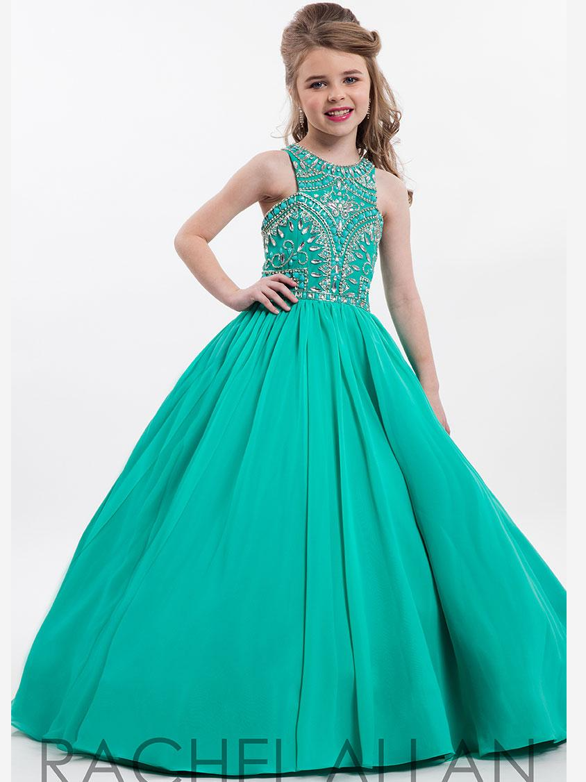 New Perfect Angels by Rachel Allan High Neckline Pageant Gown Custom Made Princess Ball Floor Length Kids Party Children Gift HY1146