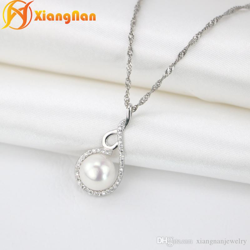 box silver sterling jewelry in with aaa item freshwater natural from pendant necklace pendants chain original pearls fine
