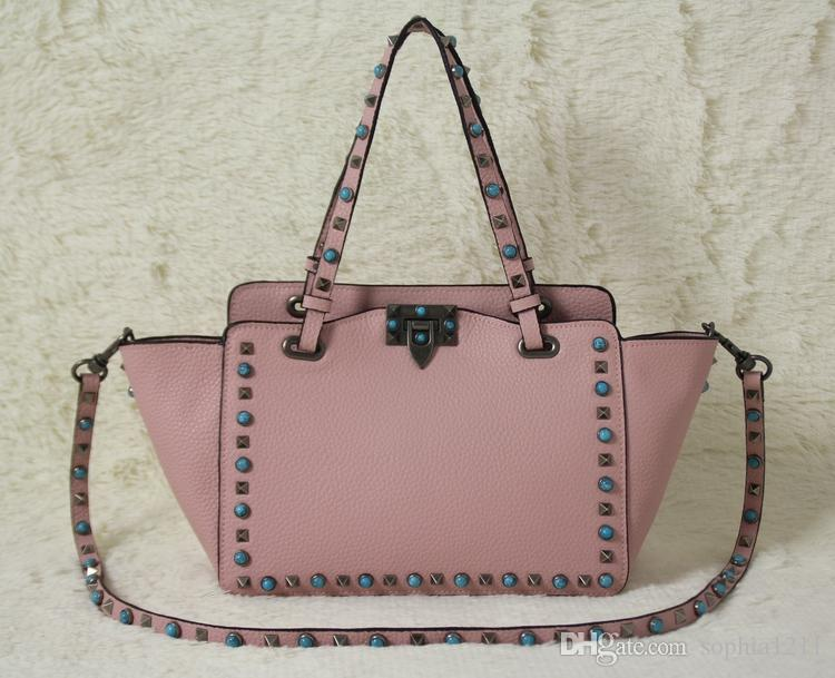 New Fashion Fhndbag Borsa a tracolla borsa Lady Bag Golden Rivet Dating Data Black San Valentino Borse Big Pink Black Bags Small Mini Borse