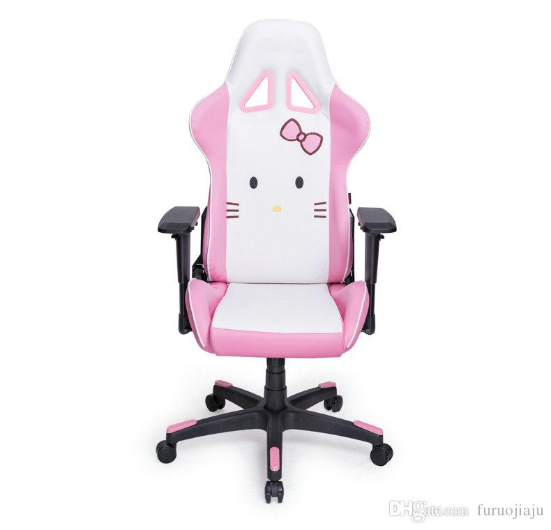 Charmant 2018 Hellokitty Theme Pink Gaming Computer Chair For Ergonomic Game And  Office Work ,Fashion Home Chair With High Back Recliner From Furuojiaju, ...