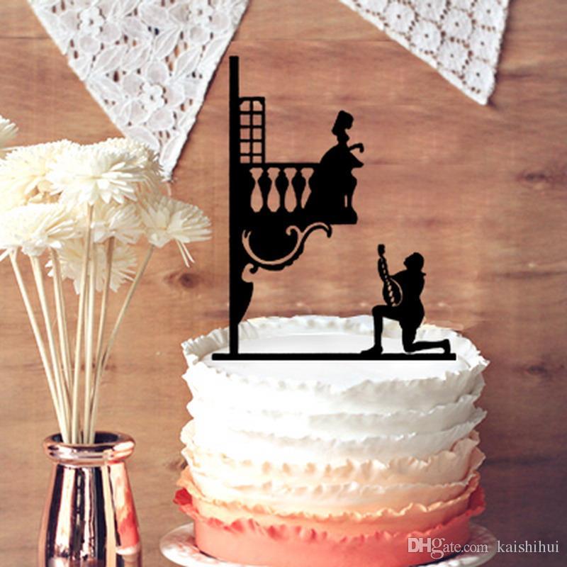 Romantic Wedding Anniversary Cake Topper - Unique Makes a Proposal ...