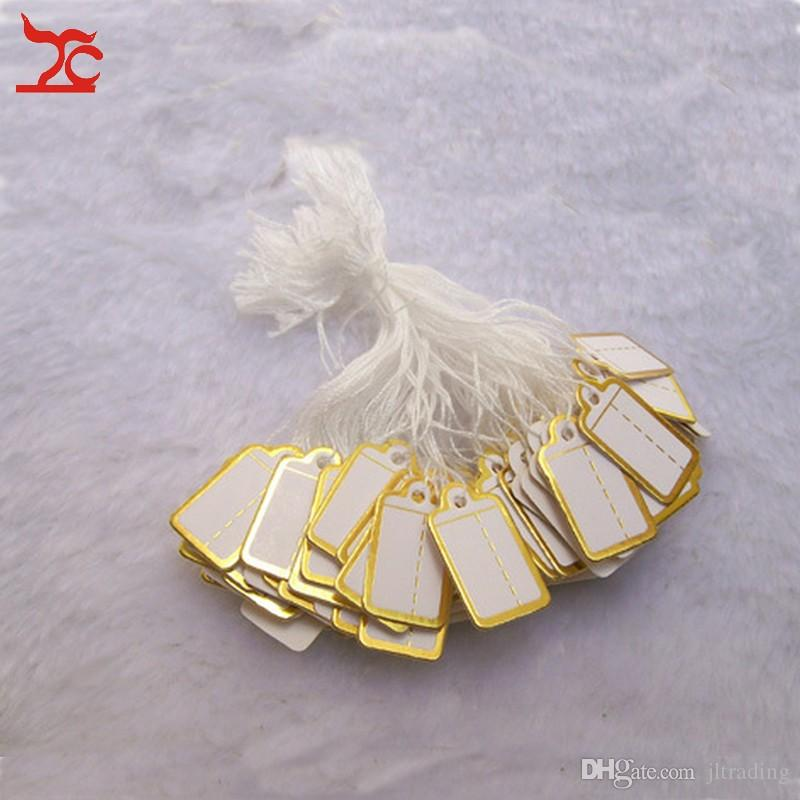 Jewellery Shop Tool Jewelry Display Small Tie-on PRICE TAG Gold Label Price Label for Jewelry Sales