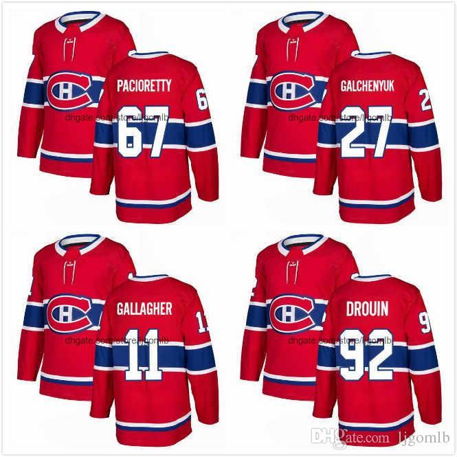 sports shoes 661b2 7b12c Max Pacioretty Jersey 67 Alex Galchenyuk 27 Brendan Gallagher 11 Jonathan  Drouin 92 Mens Ice Hockey Jerseys 2018AD Montreal Canadiens S-3XL
