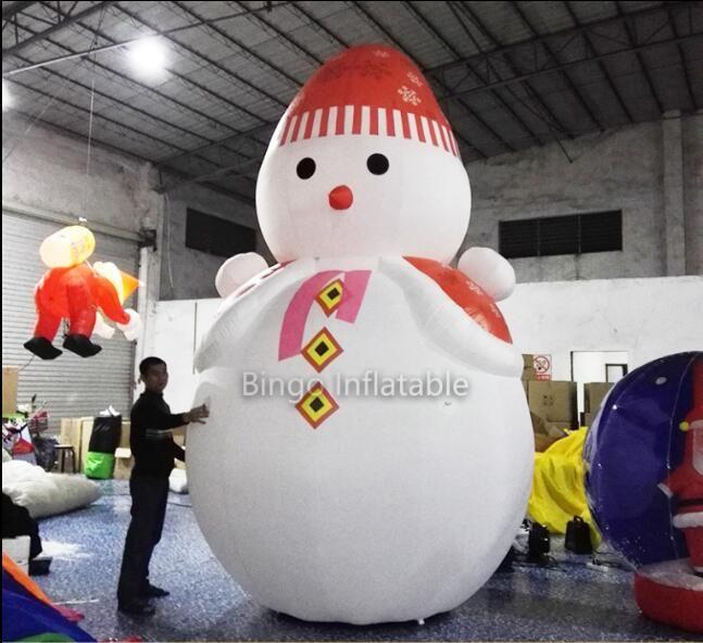 inflatable christmas santa claus cartoon 5m inflatable snowman for Christmas decoration