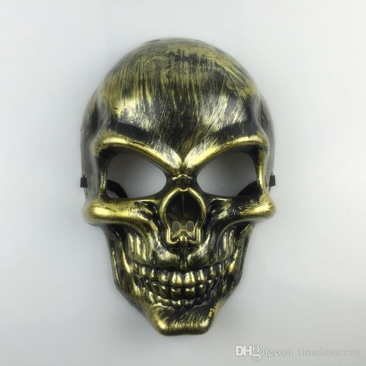 Plastic Horror Skeleton Warrior Mask Full Face CS Ghost Mask for Halloween Party Supplie Masquerade Mask
