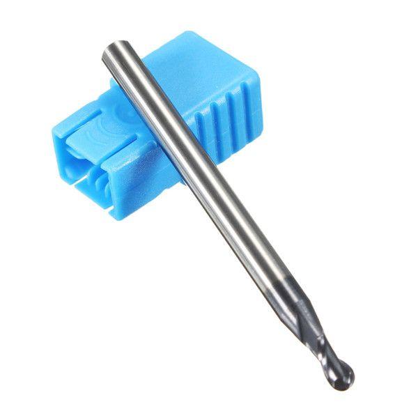 R0.5-3mm Nitrogen Coated 2 Flutes Ball Nose End Mill Cutter Set CNC Tool