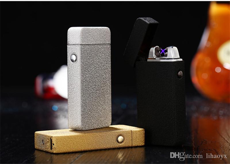 Ofertas promocionales Pulse encendedor de metal de metal encendedor creativo Encendedor de carga de encendedor de cigarrillos envío gratis