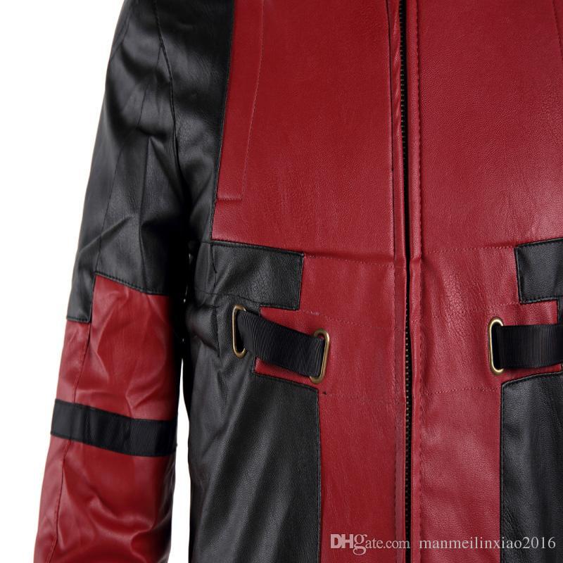 NEW Movie COS High-quality Deadpool X-men Cosplay Costume Superhero Coat Custom Made Halloween Exclusive