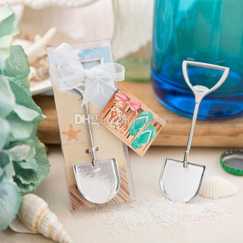 Event Party Favors Sand Shovel Beach Theme Metal Beer Bottle Opener Wedding Return Gifts For Guests 50pcs Wholesale