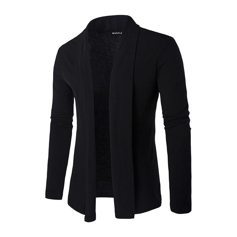 FGKKS 2017 горячие продажа бренд-одежда весна кардиган мужской моды сплошной цвет тонкий свитер мужчин случайные Мужские свитера