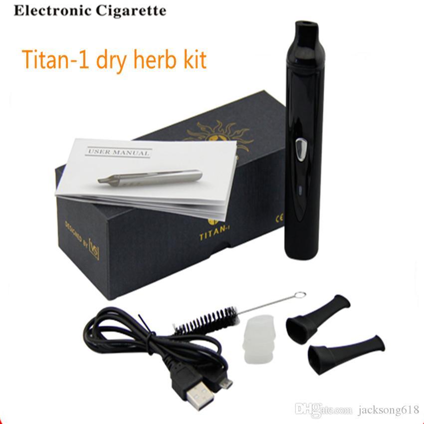 Original Titan1 Titan2 hierba seca vaporizador pluma herbalvaporizer hebe Kit de cigarrillo electrónico vaporizador mod Kit 2200mah vapor e cigarro / lote