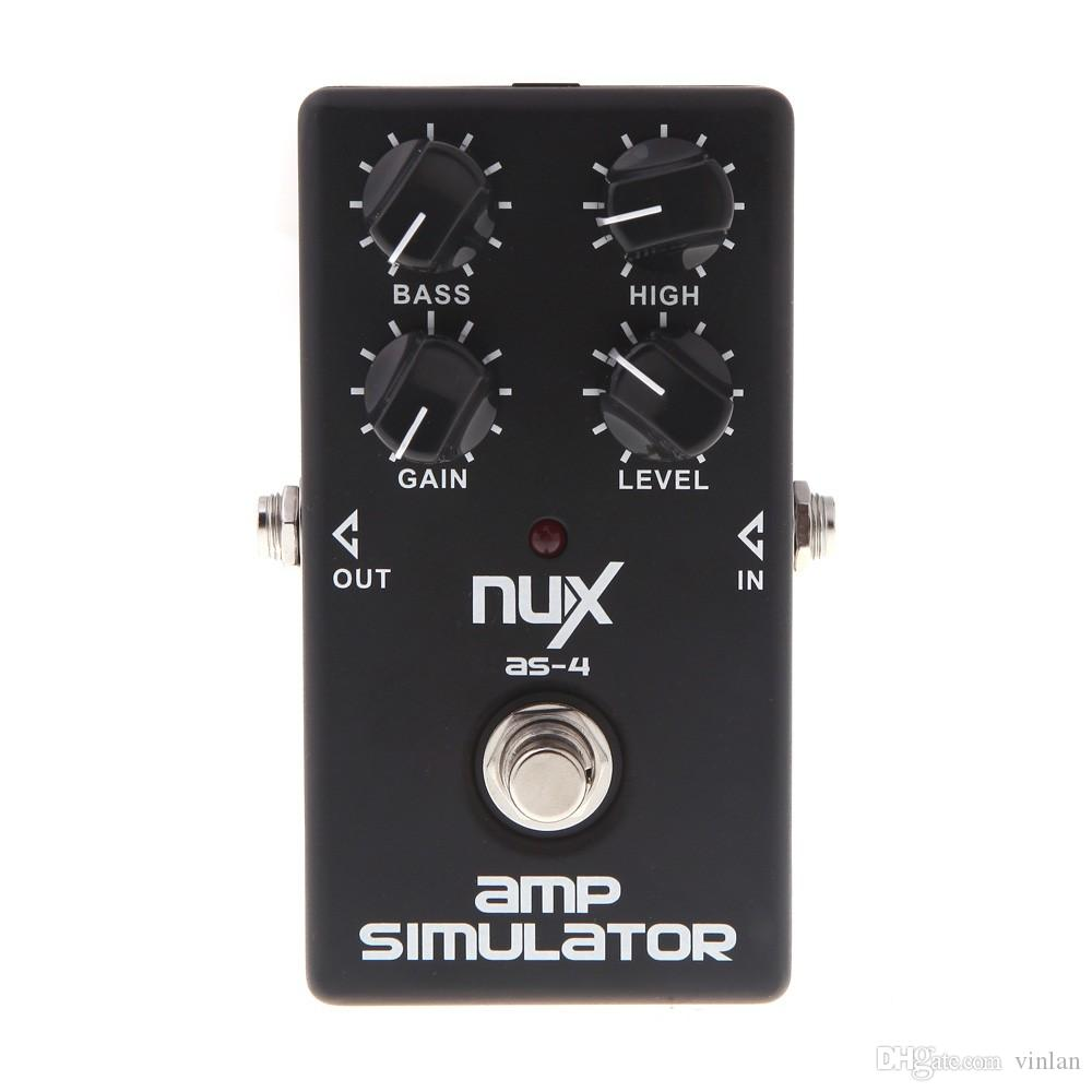 Original Product NUX AS-4 Amplifier Simulator Violao Guitar Electric Effect Pedal True Bypass Musical Instrument Parts accessories