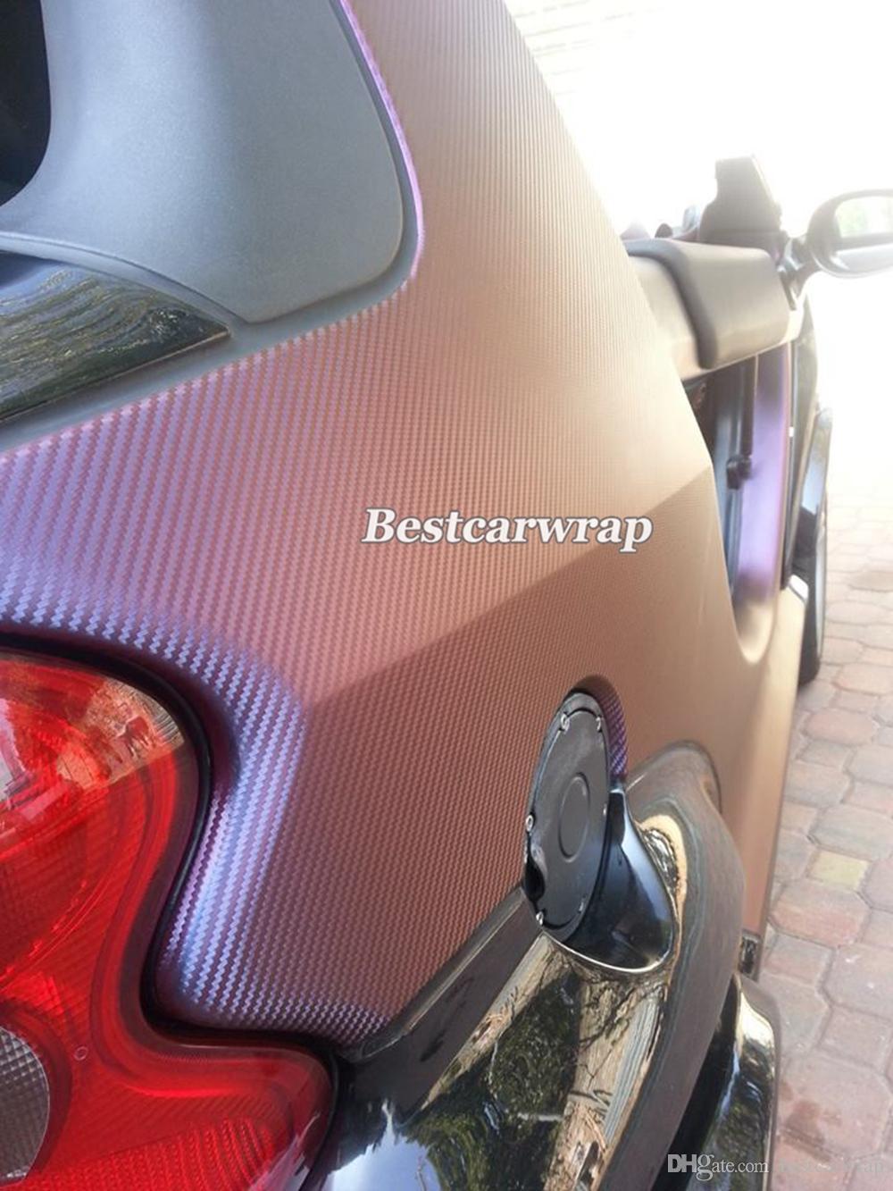 Брозенный фиолетовый хамелеон 3d углеродного волокна винил с воздушным пузырем бесплатно для автомобиля виниловая пленка, покрывающая фольга размером 1.52x30m 4,98x98ft