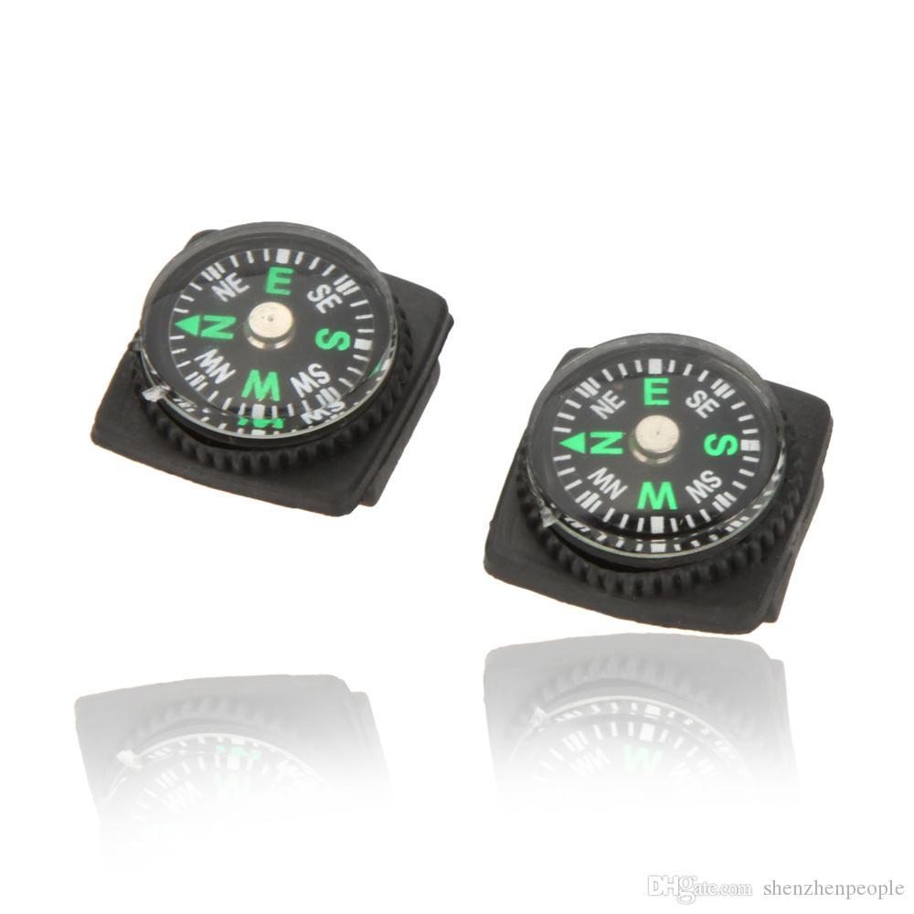 Mini Bússola para Paracord Pulseira de Acampamento Ao Ar Livre Caminhadas Ferramenta de Sobrevivência de Emergência de Viagem