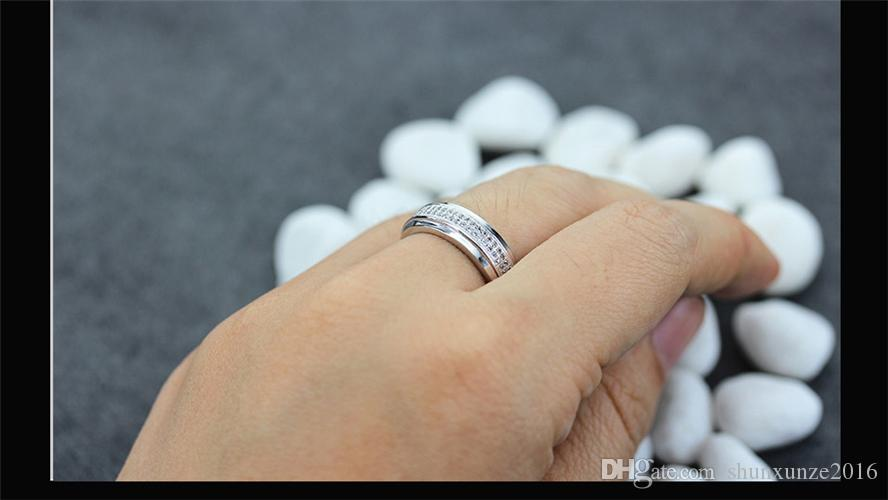 Kupfer rhodiniert klassische Ringe weiße Zirkonia Sporty MN3259 sz # 6 7 8 9 edle großzügige Lieblings Bestseller erstklassige Produkte
