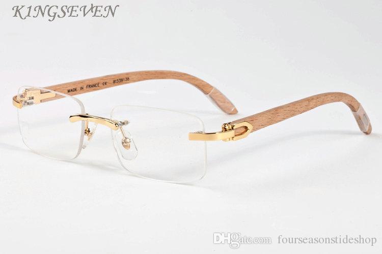 النظارات الشمسية الخشب والخيزران للرجال 2020 أزياء الرجل polairzed النظارات الشمسية بدون إطار القيادة قرن الجاموس نظارات البني الوردي العدسات واضحة eyegl