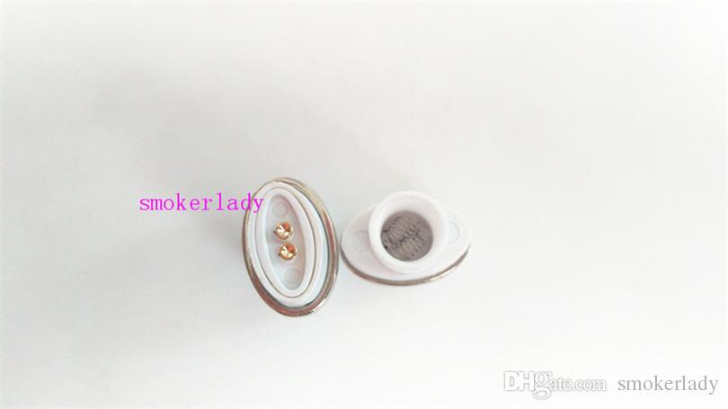 Full white Ceramic Dual Quartz Coil Replacement Core Atomizer For Wax Vaporizer Pen Quartz Rod for Elips Cloud Pen micro g pen