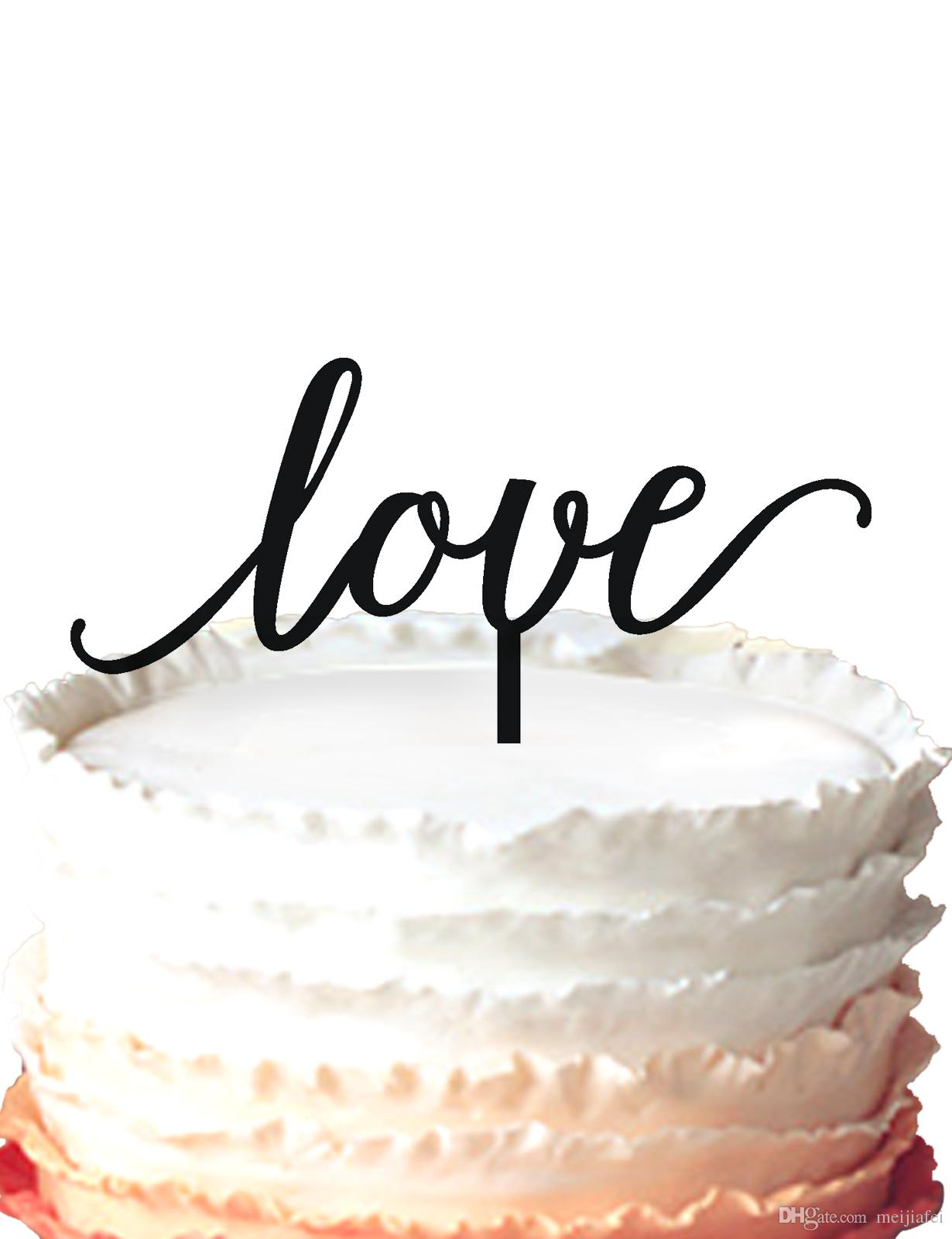 2019 Acrylic Wedding Cake Topper Love Silhouette For Party Cake