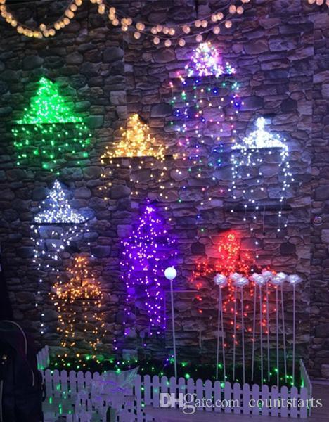 copper led lights 12v outdoor christmas string fairy lighting 200led 12v pink 9colour decoration lights waterproof easy bent diy decoration globe light