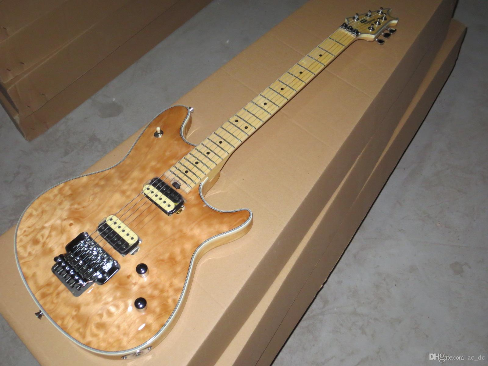 Edward Van Halen Wolf Music Man Ernie Ball Natural Spalted Birds Eye Maple Top Electric Guitar Tremolo Bridge