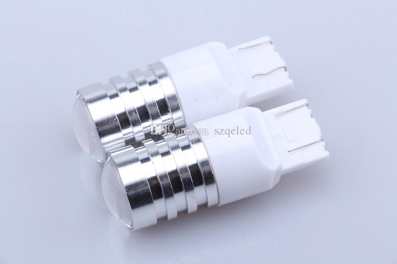 T20 7440 Wedge CREE Emitter 5W Led de marcha atrás Lámpara de marcha atrás Auto Signal Tail Brake LED Bombilla blanca