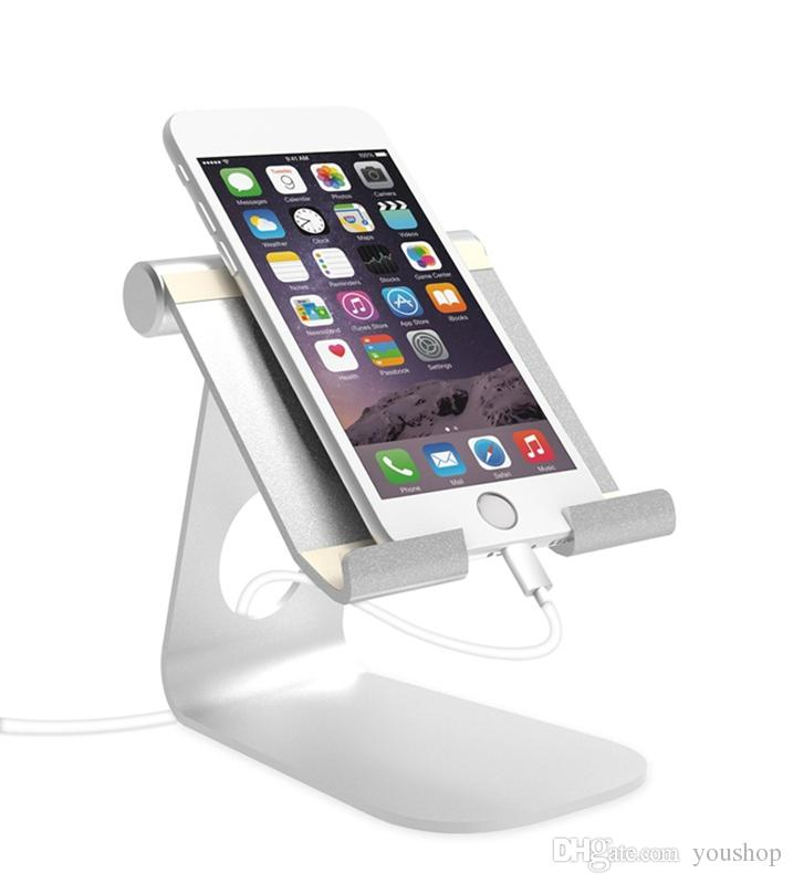 Einstellbare Aluminium Tablet Ständer Desktop-Handy-Halter für alle Handys für ipad Pro 12.9