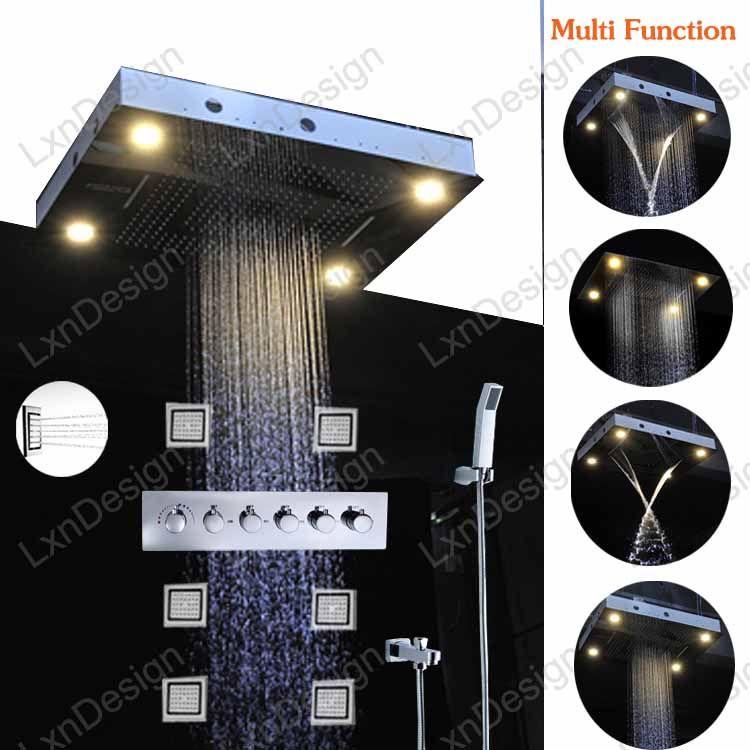 2017 5 Star International Hotel Use Led Shower Lighting Fixtures,Led Shower  Head Massage Shower Jet Tub Faucet Tap Set From Jmhm, $1487.44 | Dhgate.Com