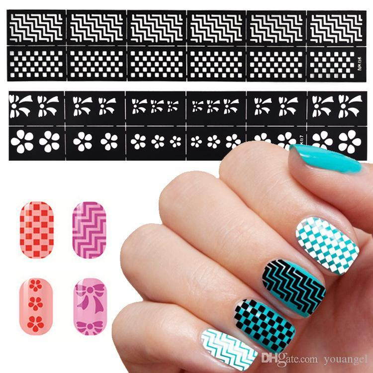 Hollow Stickers Nail Art Print Template Nail Foils 3d Nail Stickers ...