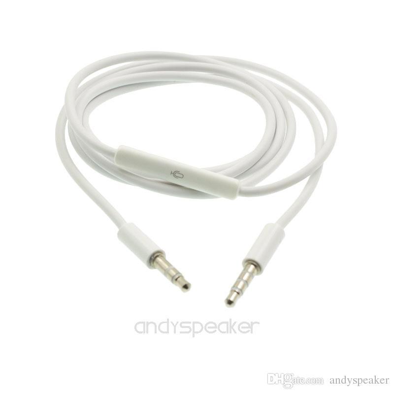 Cavo ausiliare del cavo ausiliario con MicroWire Remote Cavo audio da 3,5 mm maschio a maschio Cavo stereo da 1,2 m dispositivo digitale 100 pezzi / su
