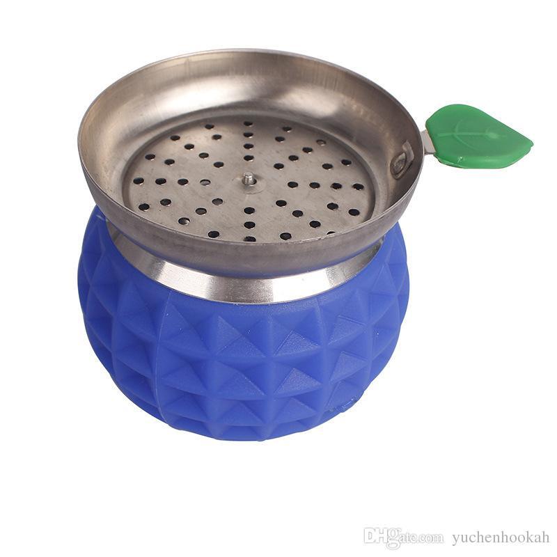 Fruit shape & Apple-type Metal Hookah Bowl Mini Smoke Pot Plus Anti-hot Silicone Shisha Other Smoking Accessories