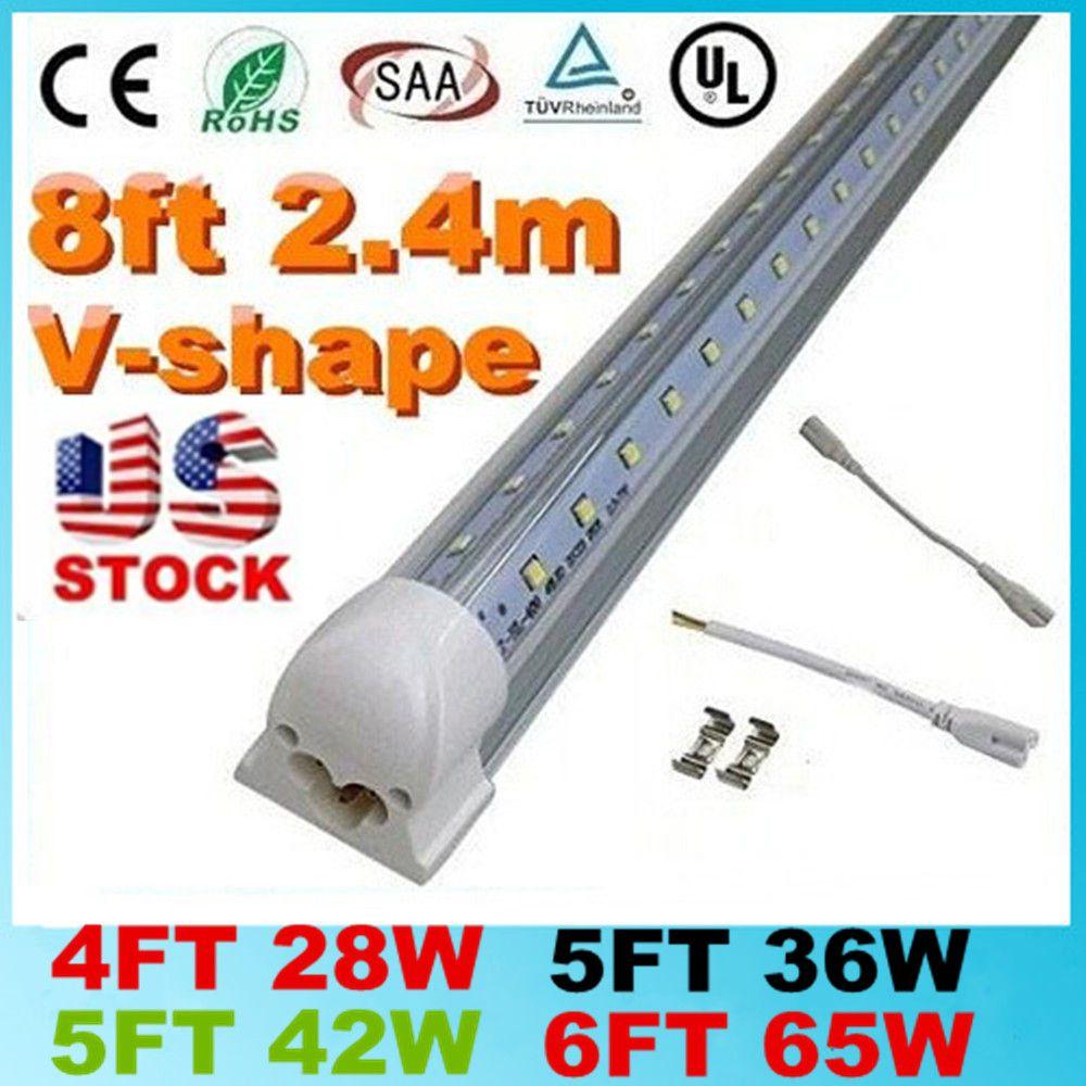 8 Ft 2 Lamp Fluorescent Strip Light White No Ssf2964wp 8ft: V-Shaped 4ft 5ft 6ft 8ft Cooler Door Led Lights Tubes T8