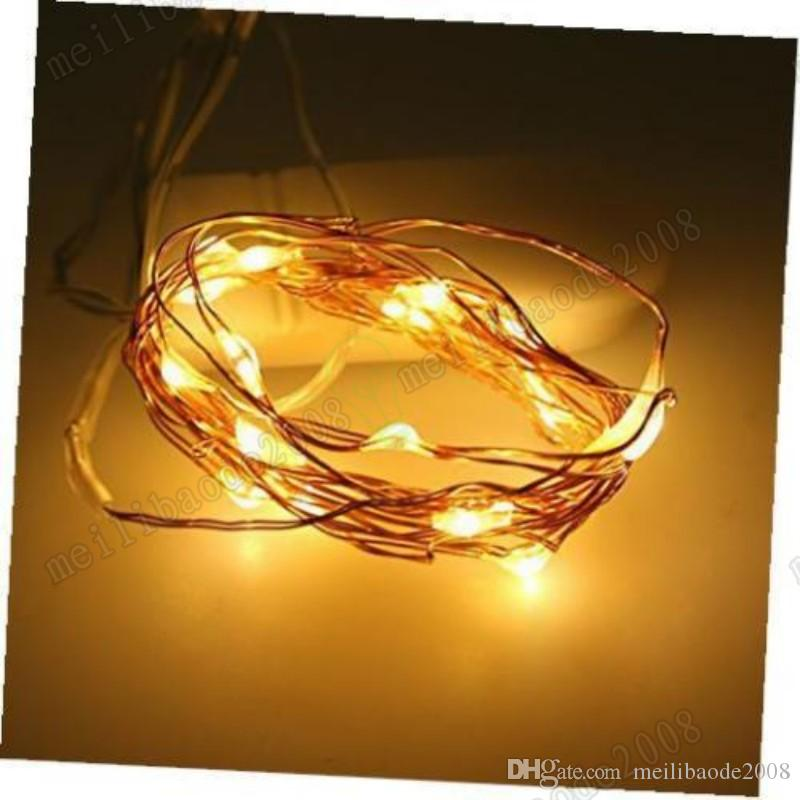 NEW DHL Free Micro copper wire led string lights White coin battery operated for clothes flower decoration MYY
