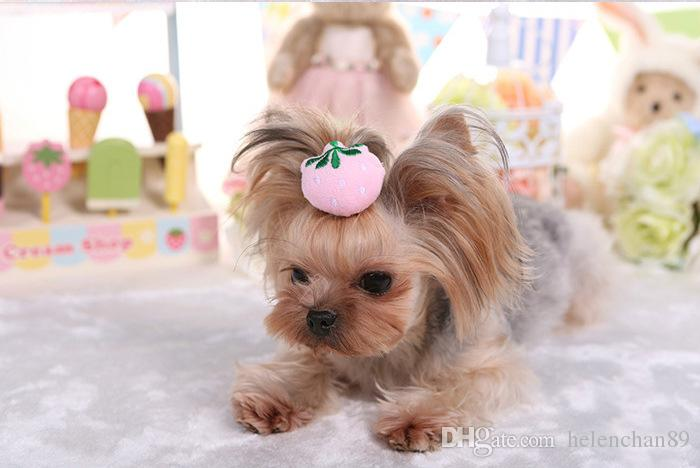 New Pet Christmas Halloween Hair Accessories Dogs Hair Clips with Cute Animal and Strawberry Dog Cat Hair Clips Ornaments