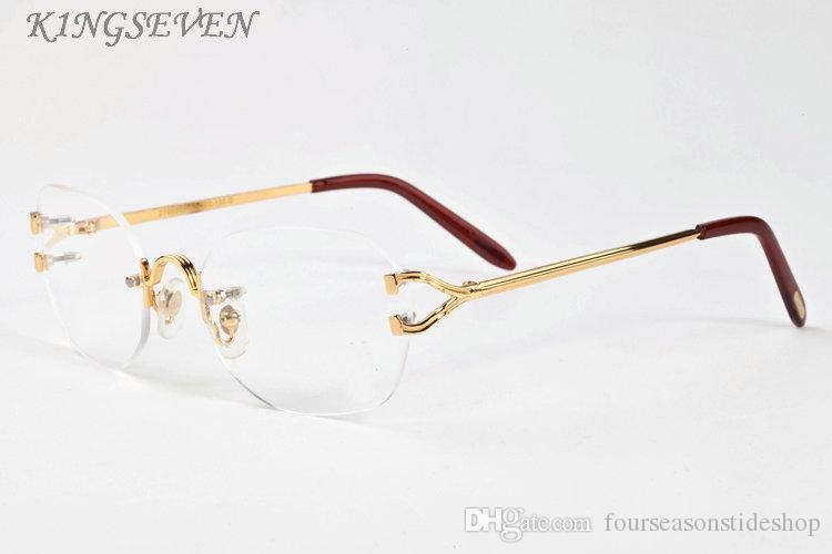 남성 남여 물소 뿔 안경 패션 스포츠 선글라스 무테 명확한 렌즈 2020 빈티지 복고풍 선글라스의 경우 안경을 여자