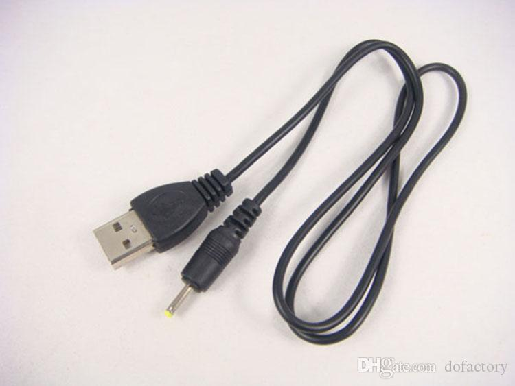 USB charge cable to DC 2.5 mm to usb plug/jack power cord