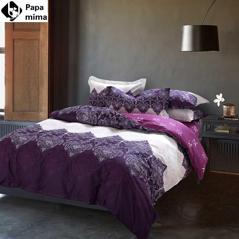 Great Unique Light Purple Bedding Set Cotton Duvet Cover Set Bed Quilt Queen Size  Bedspread Pillowcase Bedclothes Bed Sheet Set Duvet Covers On Sale Designer  ...