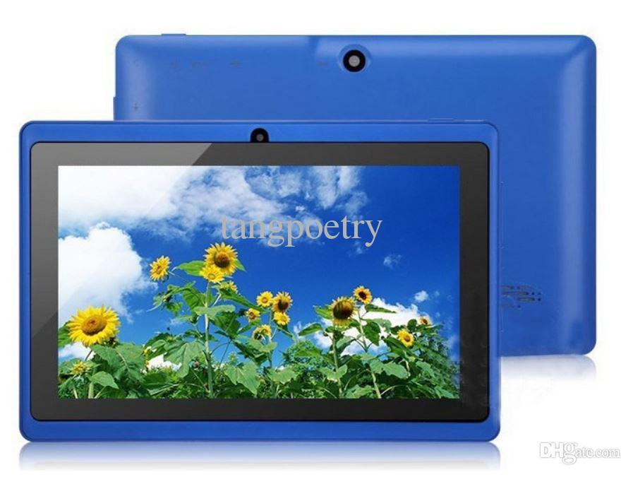 Wholesale - Allwinner A33 Q88 Android pairs camera 7 inch capacitive A33 Tablet PC cpu 8GB of storage