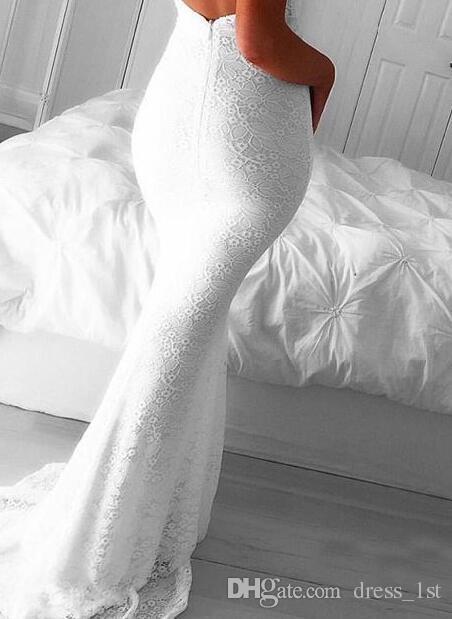 2017 Sexy Белый шнурка Backless Mermaid платья Вечерние Wear Холтер Front Split Длинные вечерние платья выполненные на заказ Китай EN9135