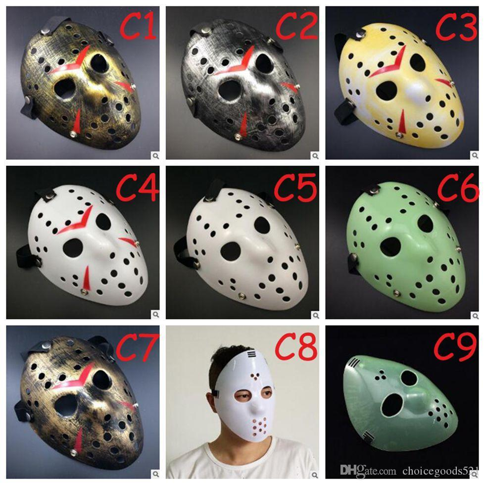 Full Face Mask Antique Killer Jason Vs Friday The 13th Prop Pj Topeng Masks Horror Hockey Halloween Costume Cosplay Online With 241 Piece On Choicegoods521s