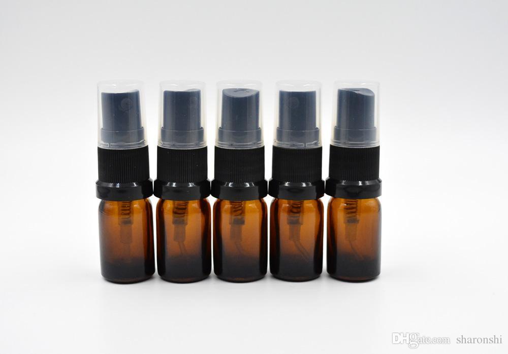 5ml Leerer starker bernsteinfarbiger Zerstäuber-Glasflaschen-Spray-nachfüllbares schweres Parfüm-Aromatherapie-wesentliches Öl / durch DHL geben Brown frei
