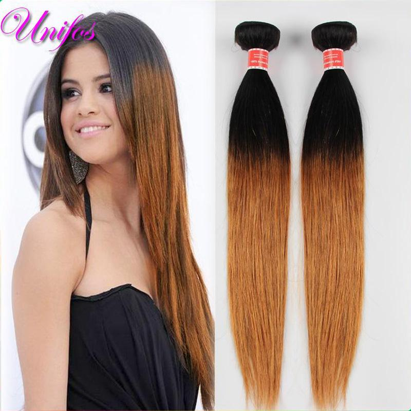 1b 30 ombre brazilian straight human hair extensions 2