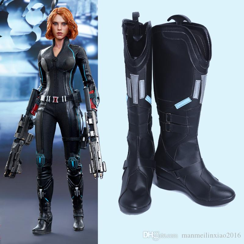 2019 Original The Avengers Age Of Ultron Black Widow Natasha Romanoff Cosplay Costume Accessories Shoes Boots Costume Accessories Customize From