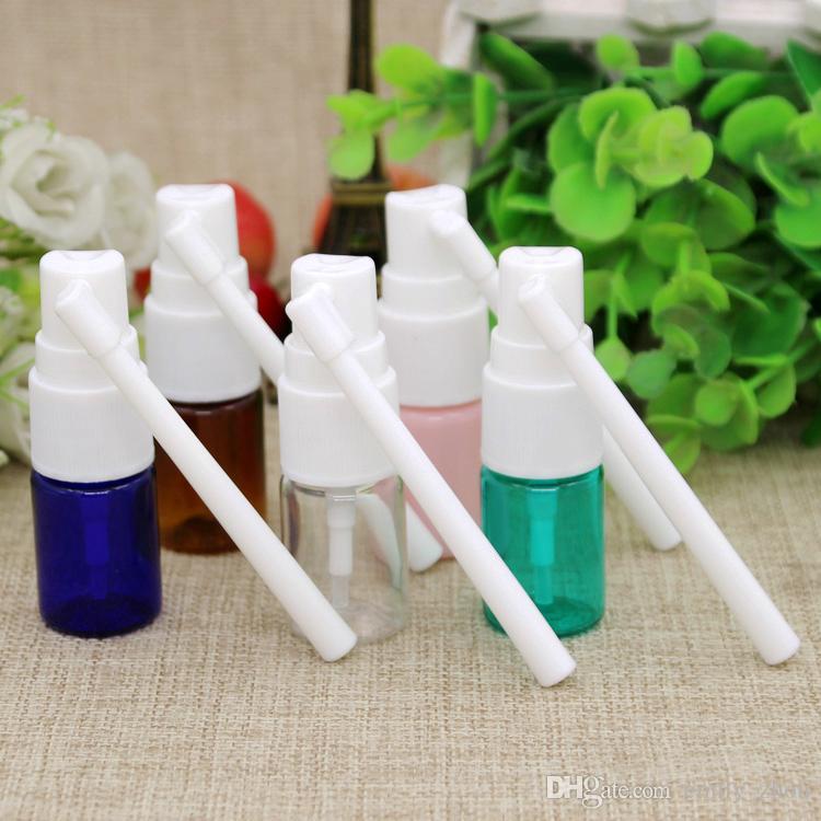 5ml White Empty Plastic Nasal Spray Bottles Pump Sprayer Mist Nose Spray Refillable Bottle For Medical Pa