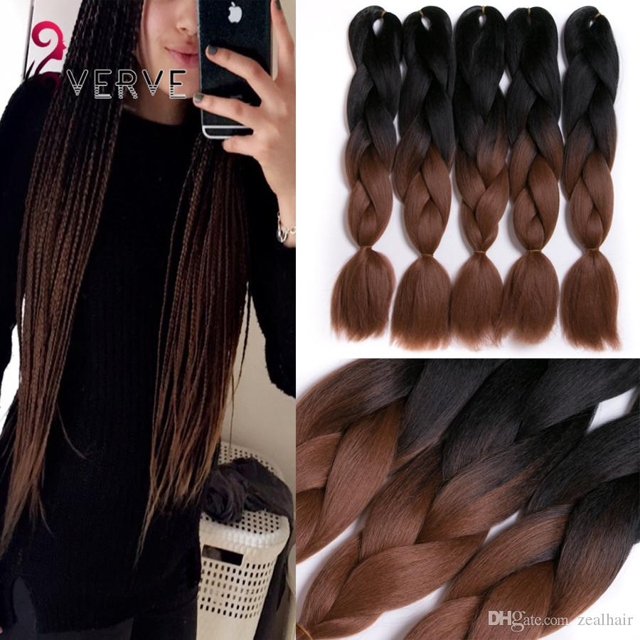 Wholesale verves ombre braiding hair brown two tone 24inch high wholesale verves ombre braiding hair brown two tone 24inch high temperature fiber ombre braiding hair extension yaki style synthetic hair bundles remy bulk pmusecretfo Choice Image