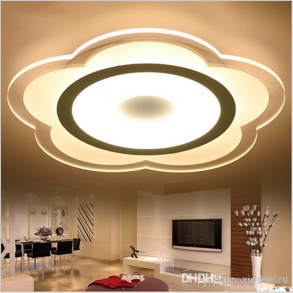 Best super thin lotus ceiling lights indoor lighting led luminaria 10 mozeypictures Gallery
