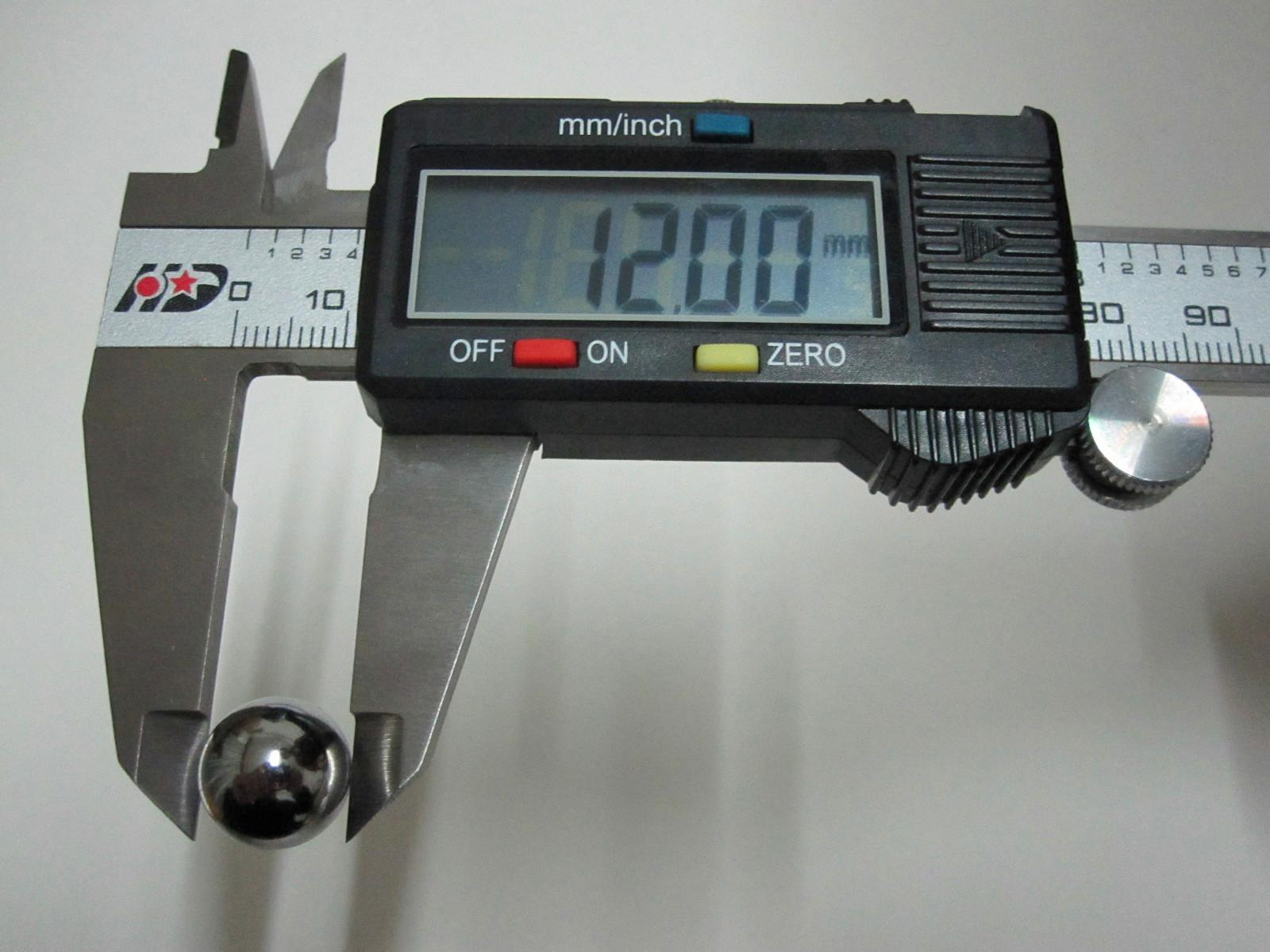 Diámetro de la bola de acero de la bola del rodamiento de bolitas de acero cromado de 12mm 12mm / set Precisión: G10-Grado